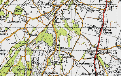 Old map of Wilgate Green in 1946