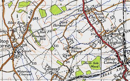 Old map of Wilkin Throop in 1945
