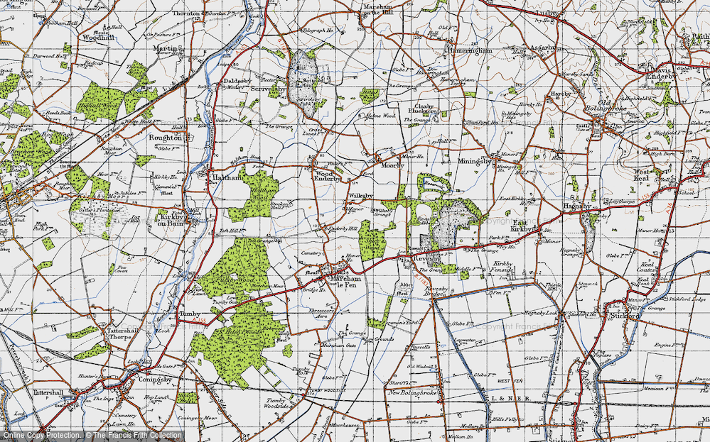 Old Map of Wilksby, 1946 in 1946