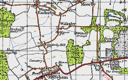 Old map of Wilksby in 1946