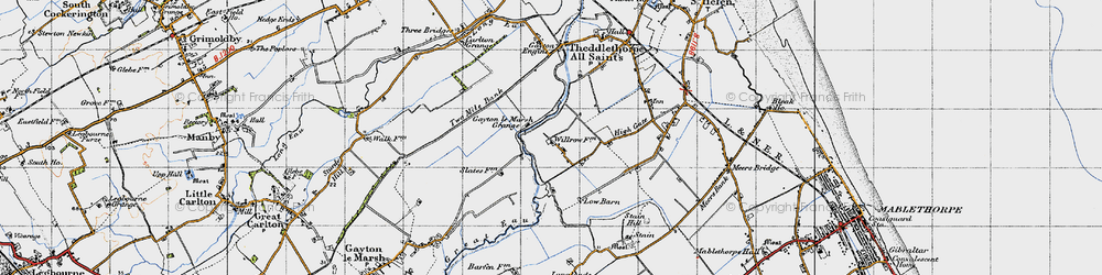 Old map of Will Row in 1946