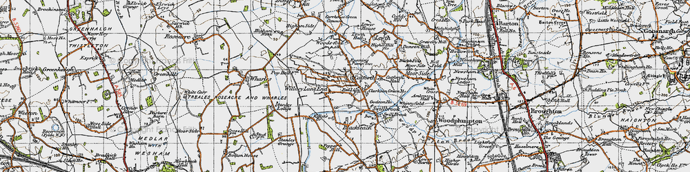 Old map of Willacy Lane End in 1947