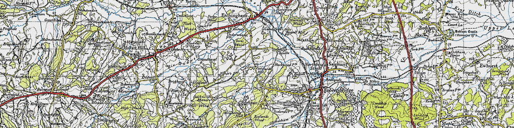 Old map of Willard's Hill in 1940
