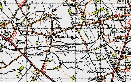 Old map of Willaston in 1947