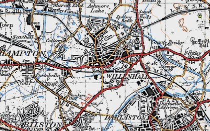 Old map of Willenhall in 1946
