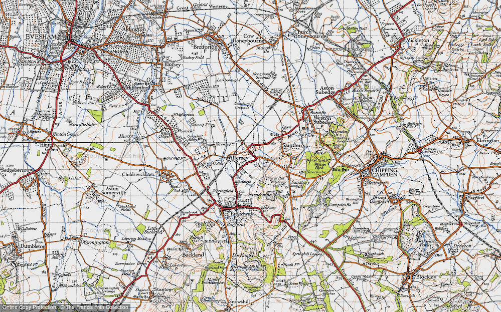 Old Map of Willersey, 1946 in 1946