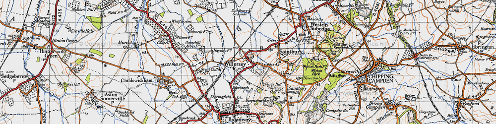 Old map of Willersey in 1946