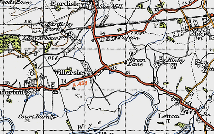 Old map of Willersley in 1947