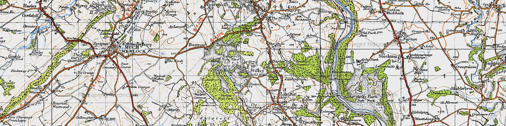Old map of Willypark Wood in 1947