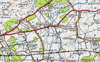 Old map of Willey Green in 1940