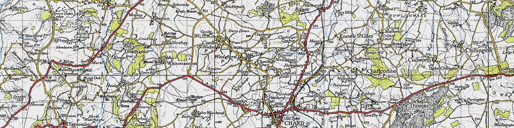 Old map of Willhayne in 1945