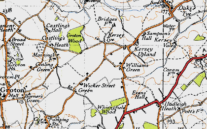 Old map of William's Green in 1946