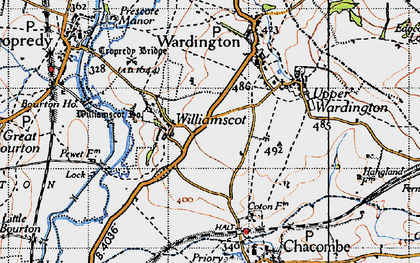 Old map of Williamscot in 1946