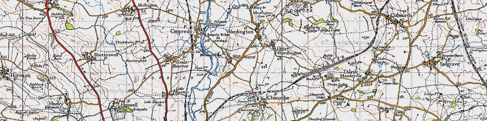 Old map of Williamscot Ho in 1946