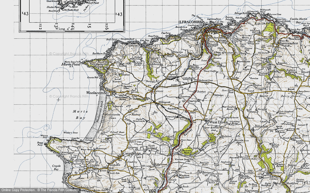 Old Map of Willingcott, 1946 in 1946