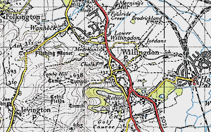 Old map of Willingdon in 1940