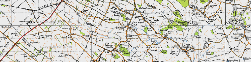 Old map of Willingham Green in 1946