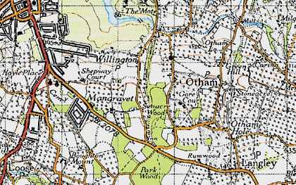 Old map of Willington in 1940