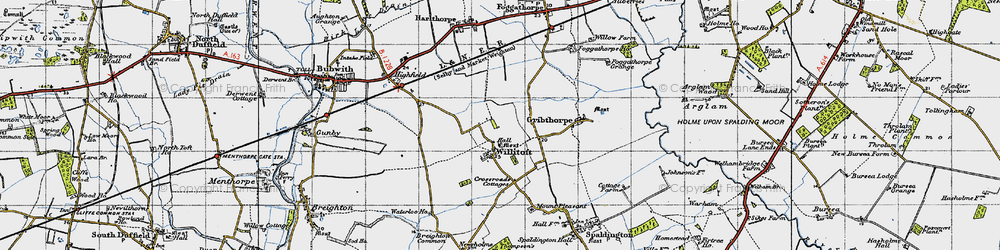 Old map of Willitoft in 1947