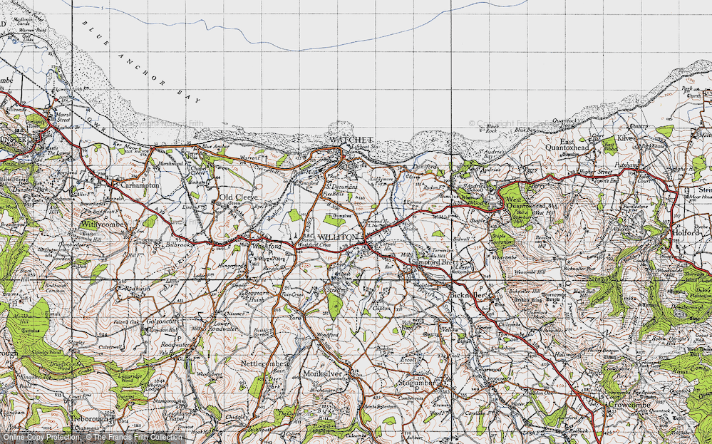 Old Map of Williton, 1946 in 1946