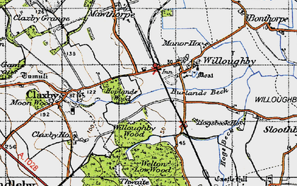 Old map of Willoughby in 1946
