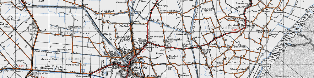 Old map of Willoughby Hills in 1946