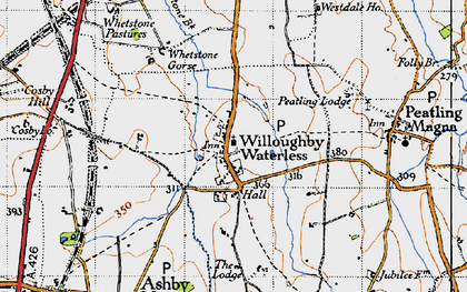 Old map of Whetstone Brook in 1946