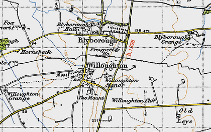 Old map of Willoughton Cliff in 1947