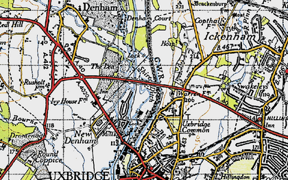 Old map of Willowbank in 1945