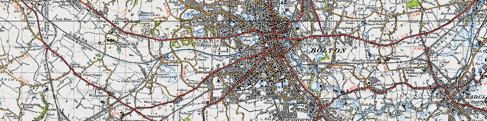 Old map of Willows in 1947