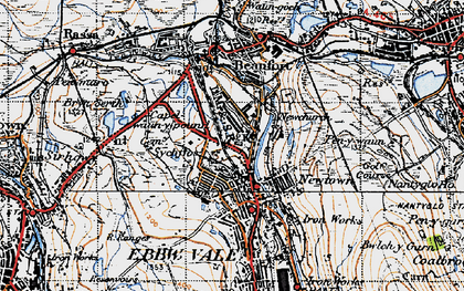 Old map of Willowtown in 1947