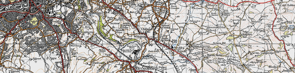 Old map of Willsbridge in 1946