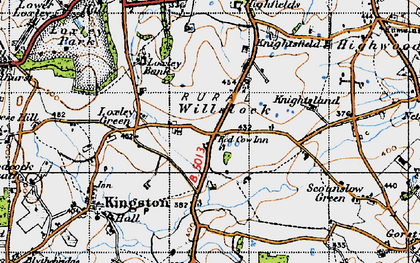 Old map of Willslock in 1946