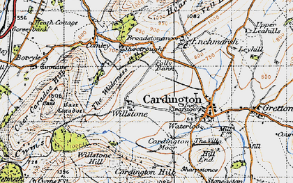 Old map of Willstone in 1947