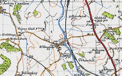 Old map of Wilmcote in 1947