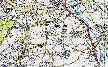 Old map of Wilmington in 1946
