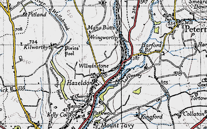 Old map of Wilminstone in 1946