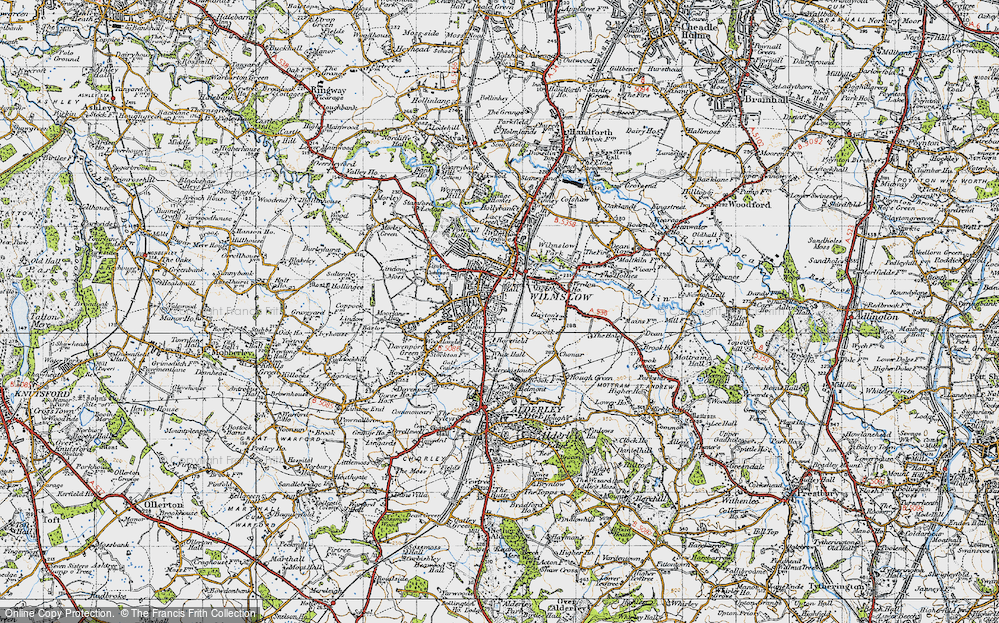 Old Map of Wilmslow, 1947 in 1947