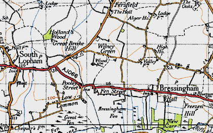 Old map of Algar Ho in 1946