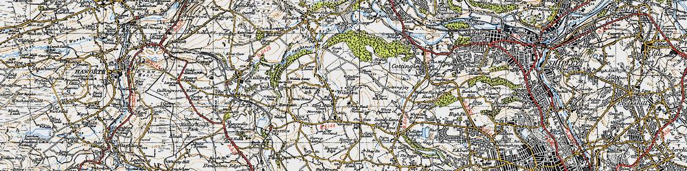 Old map of Wilsden in 1947
