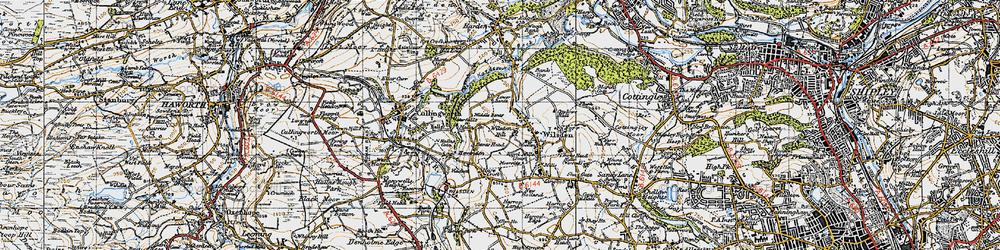 Old map of Wilsden Hill in 1947