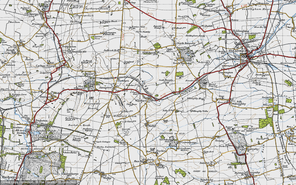 Old Map of Wilsford, 1946 in 1946