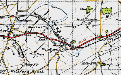 Old map of Wilsford in 1946