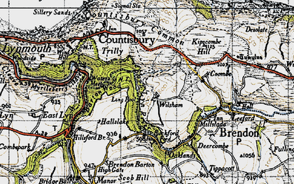 Old map of Wilsham in 1946