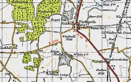 Old map of Wilsic in 1947