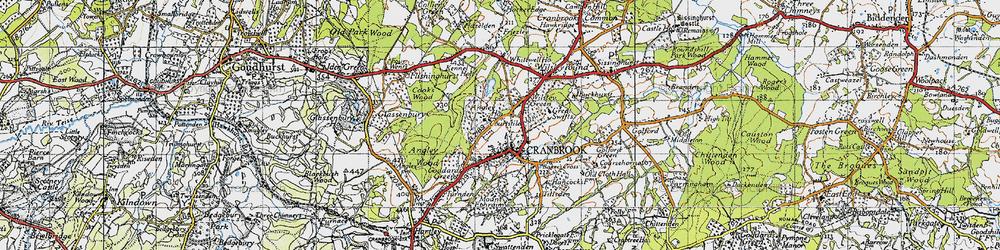 Old map of Wilsley Green in 1940