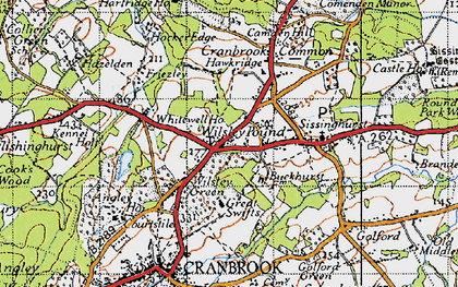 Old map of Wilsley Pound in 1940