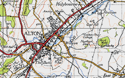 Old map of Wilsom in 1940