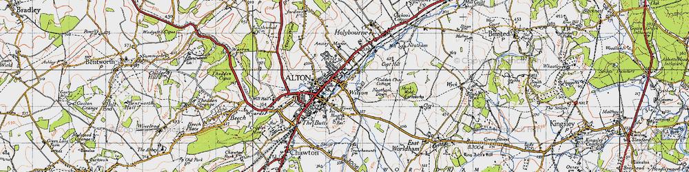 Old map of Wilsom in 1940