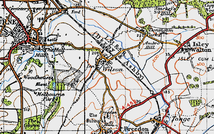 Old map of Wilson in 1946
